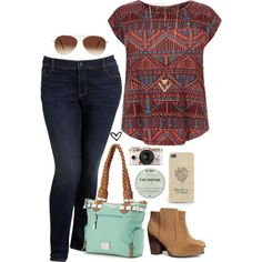 Sweet and Tender Hooligan by biancaparisx on Polyvore featuring Old Navy, H&M, Rosetti, DailyLook, Eloquii, boho, casualoutfit, summerstyle, plussize and plussizefashion