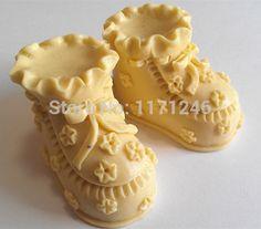 baby schoenen vorm silicone mal, 3d fondant schimmel, zeep mal, chocoladevorm, taart hulpmiddel $9,90 (free shipping)