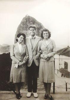 Rose, Jack, and Eunice in Rio de Janeiro, Brazil / 1941.❤❁❤❁❤❁❤❁❤❁❤ http://en.wikipedia.org/wiki/John_F._Kennedy  http://en.wikipedia.org/wiki/Rose_Kennedy http://en.wikipedia.org/wiki/Eunice_Kennedy_Shriver