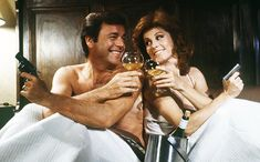 Hart to Hart - Robert Wagner, Stefanie Powers, ...Fun!  Aren't these two married now?