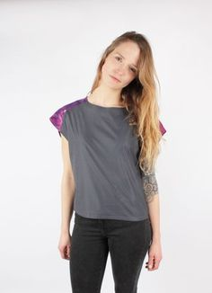 Top KIKI Grey Violet