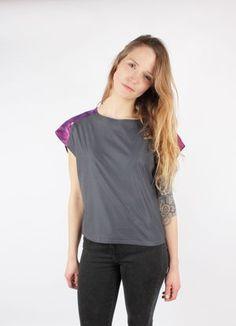 Top KIKI Grey Violet