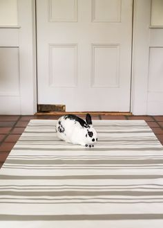 DIY Canvas Rug with Swedish Stripes Remodelista