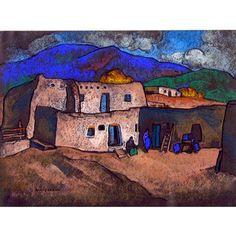 Pueblo Adobes - William Penhallow Henderson 1918