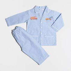 BAUMWOLLPYJAMA MIT VICHYKAROS IN BLAU - Kinder - Homewear & shoes | Zara Home Deutschland