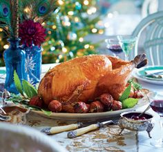 A wonderful Christmas turkey recipe enhanced by the earthy flavour of porcini mushrooms in the special stuffing. Turkey Recipe Butter, Roast Turkey Recipes, Christmas Roast, Christmas Turkey, Christmas Side, Christmas Recipes, Stuffing Recipes, Porcini Mushrooms, Xmas