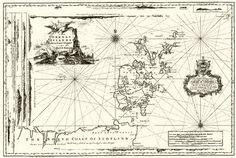 Murdock Mackenzie chart showing the Orkney Islands
