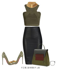"""""""Untitled #1316"""" by visionsbyjo on Polyvore featuring Jonathan Simkhai, ONLY, Christian Louboutin and Linda Farrow"""