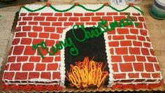 Christmas chimney sheet cake