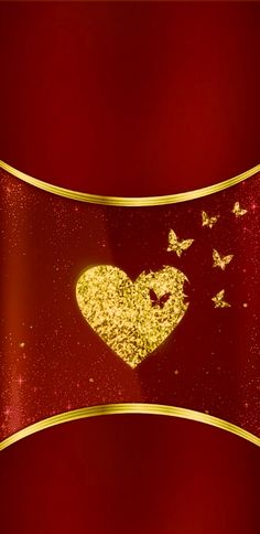 Luxury Wallpaper, Red Wallpaper, Butterfly Wallpaper, Wallpaper Backgrounds, Heart Iphone Wallpaper, Iphone Wallpapers, Shades Of Red, Red Gold, Picture Frames