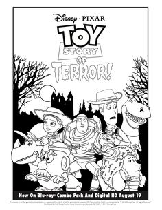 Toy Story 3 Free Printables | packing for college coloring page ...
