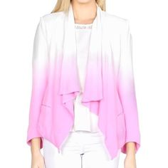 Pink Ombré Blazer  NWOT pink and white ombré blazer from Sabo Skirt! Never worn in perfect condition. Super cute and paid full price + expensive shipping from Australia so no low balls pls! Has shoulder pads for extra structure. No trades  Sabo Skirt Jackets & Coats Blazers