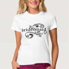 Elegant Bridesmaid T Shirt