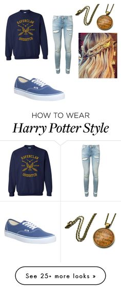 """Ravenclaw Pride"" by starry-night2021 on Polyvore featuring Off-White and Vans"