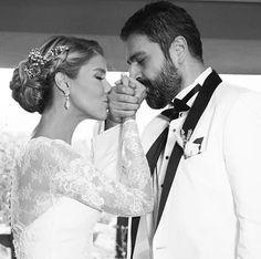 Mooie fotopose bruiloft