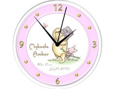 Personalized Clock - Classic Pooh