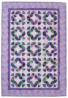 Purple quilt by Tammy Kelly.