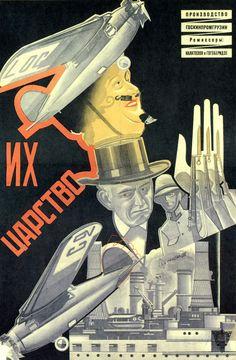 Russian Movie Poster by Nikolai Prusakov, 1928, 'Their Realm'.