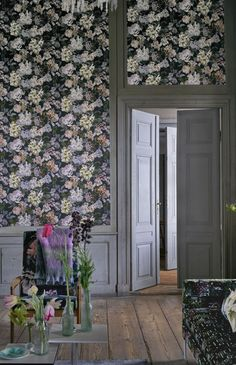 Amazing Floral Wallpaper Design By Designers Guild Grey Charcoal Harlequin