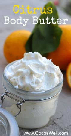 DIY Citrus Body Butter: so easy to make and smells amazing Homemade Body Butter, Whipped Body Butter, Homemade Body Creams, Diy Cosmetic, Belleza Diy, Diy Masque, Diy Lotion, Lotion Bars, Homemade Beauty Products