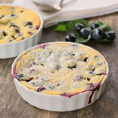 The flavors of blueberry and lemon pop in your mouth while eating this Blueberry Lemon Clafoutis. The texture is smooth and creamy and a delight to eat!