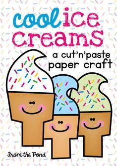Cool Ice Cream Paper Craft  Kindergarten