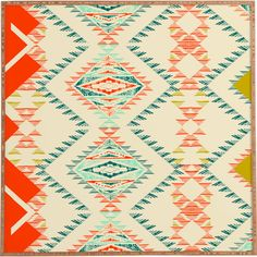 Equally at home in an artful collage or on its own as an eye-catching focal point, this charming framed print showcases a colorful Southwestern pattern....