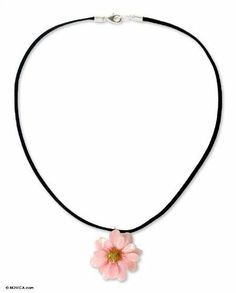 Natural flower necklace, 'World of Pink' NOVICA. $29.09. Handmade by Danai.. A fair trade product. Normally ships directly from Thailand within 10 days.