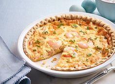 Southern Squash and Shrimp Quiche - Publix Aprons Recipes Vegetarian Breakfast, Breakfast Recipes, Diet Breakfast, Shrimp Quiche, Publix Aprons Recipes, Quiche Recipes, Recipe Details, Shrimp Recipes, Holiday Recipes