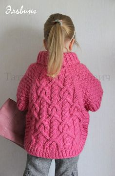 A very beautiful and interesting model of a poncho for a girl is presented in this material. Knitting needles for poncho children, even if it takes a Knitting Paterns, Knitting Machine Patterns, Lace Knitting, Knitting Needles, Baby Sweaters, Girls Sweaters, Baby Pullover, Baby Coat, Crochet Baby Clothes