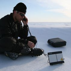 Off the Grid! Satellite attachment for computer enables you to have internet ANYHWHERE! Explorer 300 BGAN polar regions or anywhere.