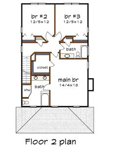 Craftsman Style House Plan - 3 Beds 2.5 Baths 1986 Sq/Ft Plan #79-301 - Houseplans.com Craftsman Style House Plans, Plan Design, Building Plans, Square Feet, Floor Plans, Construction, Flooring, How To Plan, Baths