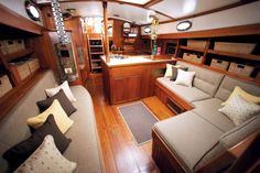 Sailboat Interior | Galetea interior redo for SunbrellaBoats Living, Boats Life, Sailboats ...