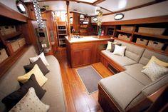 Sailboat Interior | Galetea interior redo for SunbrellaBoats Living, Boats Life, Sailboats ...