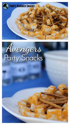 Tons of great Avengers party ideas! Fun snacks like Thor's hammer and games like a hammer throw   Thor   Captain America   Iron Man   Hulk   Marvel Avengers   party theme   superhero party   super heroes
