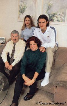 Roger & his family. That is sister Diane beside RF, 2 years older. Diane married about same  time as RF and she had a set of twins too!!