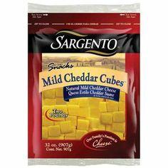 Sargento Mild Cheddar Cheese Cubes, 32 oz