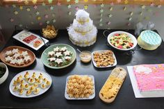 Twinkle Twinkle Star Shaped Food Spread for a baby shower