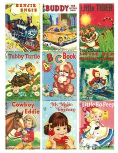 Vintage Children's Story Books Selection Card Toppers - Card Making #ChicCottageCrafts #Toppers