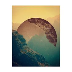 Esfera Art Print by Victor Vercesi ($18) ❤ liked on Polyvore featuring backgrounds, pictures, art and moon