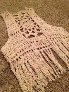 Crochet mandala fringe vest ༺✿ƬⱤღ✿༻