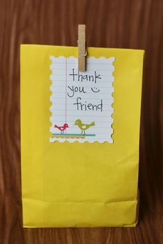 Cute goodie bag idea