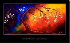 """Canvas Paintings for Beginners Gallery   Springtime Existence"""" by Abstract D'Oyley   Redbubble"""