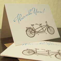 thank you tandem bike cards