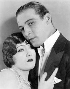 With Rudolph Valentino