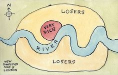 """""""New Simplified Map of London drawn from memory… (by Nad @ flickr)"""""""