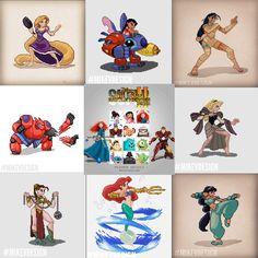 Capcom X Disney Mashup