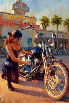 Blog do Wilson Roque: David Uhl - O Artista das Harley-Davidson #harleydavidsongirlswoman