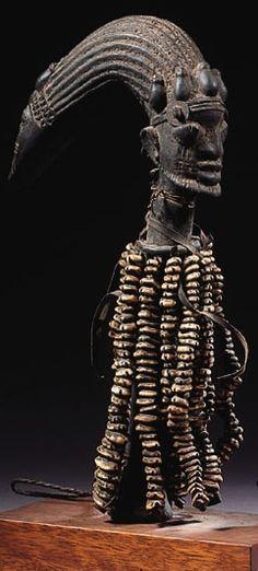 Yoruba Ogo Elegba (Eshu Staff), Nigeria