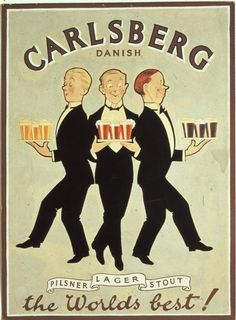 The Print Ad titled Danish (1920) was done  for product: Carlsberg Beer (brand: Carlsberg) in Denmark.